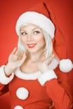 秀丽圣诞节女孩 库存照片