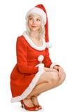 秀丽圣诞节女孩 免版税图库摄影