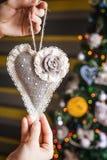 秀丽圣诞节心脏 免版税库存照片
