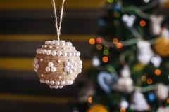 秀丽圣诞节球 库存图片