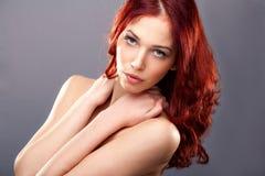 秀丽头发红色 库存图片