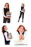 秀丽女学生年轻人 免版税库存照片