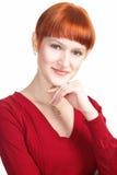 秀丽女孩红发年轻人 库存图片