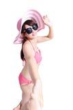 秀丽女服比基尼泳装 库存图片