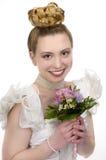 秀丽婚礼发型 免版税库存照片