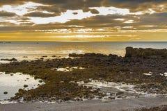 秀丽日落-冰岛 库存图片