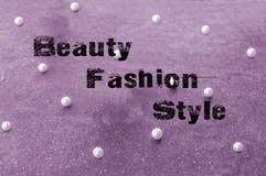 秀丽时尚和样式概念 免版税库存图片