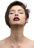 秀丽时髦样式时装模特儿女孩 免版税图库摄影