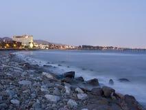 秀丽晚上海洋 库存照片