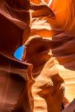 秀丽本质上 古雅羚羊峡谷在亚利桑那 免版税库存照片