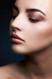 秀丽模型妇女 性感的秀丽构成细节 免版税库存图片