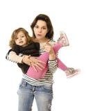 秀丽母亲和女儿 库存照片