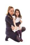 秀丽母亲和她的女儿 图库摄影