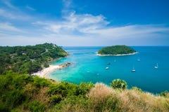 秀丽海滩沙子观点夏季普吉岛海岛泰国 图库摄影