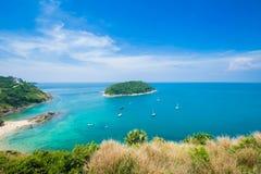 秀丽海滩沙子观点夏季普吉岛海岛泰国 库存照片