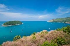 秀丽海滩沙子观点夏季普吉岛海岛泰国 免版税库存照片