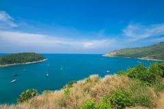 秀丽海滩沙子观点夏季普吉岛海岛泰国 免版税库存图片