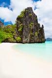秀丽海滩 免版税库存图片