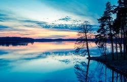 秀丽渔夫湖横向本质安排沈默 免版税图库摄影