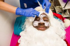 秀丽温泉的圣诞老人 免版税图库摄影