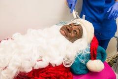 秀丽温泉的圣诞老人 免版税库存图片