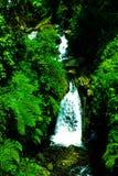 秀丽瀑布在桥梁下 库存图片