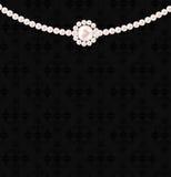 秀丽珍珠背景向量例证 免版税库存图片