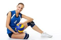 秀丽球员排球年轻人 免版税库存照片