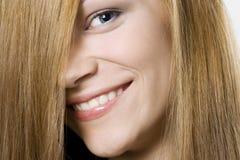秀丽白肤金发的女性头发 库存照片