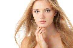 秀丽白肤金发的女性 免版税库存照片