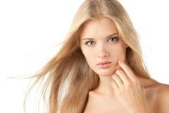 秀丽白肤金发的女性 库存图片