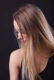 秀丽白肤金发的梦中情人年轻人 库存图片