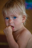 秀丽白肤金发的年轻男孩 免版税库存照片
