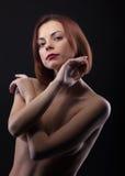 秀丽看起来露胸部的妇女您 免版税库存图片