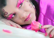 秀丽粉红色 免版税库存照片
