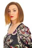 秀丽红头发人妇女 免版税库存照片