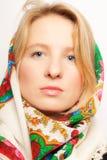 秀丽纵向俄语妇女 免版税库存图片