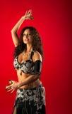 秀丽腹部铙钹跳舞手指妇女 库存图片