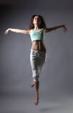 秀丽舞蹈女孩 库存图片
