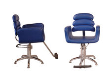 秀丽蓝色椅子客厅 库存图片