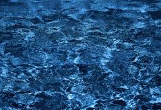 秀丽蓝色黑暗的水 免版税库存图片