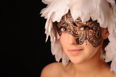 秀丽表面网眼图案妇女年轻人 库存照片