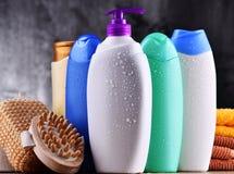 秀丽身体装瓶关心塑料产品 图库摄影