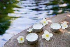 秀丽,温泉,身体关心,健康概念-与拷贝空间的水自然本底 ?? 库存图片