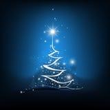 秀丽从轻的背景的圣诞树 图库摄影