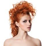 秀丽画象。发型 免版税库存照片