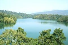秀丽neyyar印度的湖 免版税库存照片
