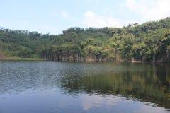 秀丽ranuagung湖 库存照片