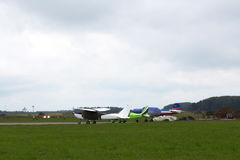 私人喷气式飞机停放 免版税图库摄影
