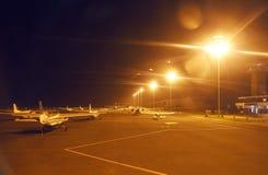 私人喷气式飞机在机场 库存照片